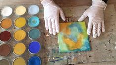 Wax on Wednesdays Encaustic Painting Fusing Tips Using  PanPastels