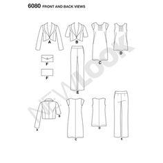 New Look Pattern 6080 Misses' Sportswear