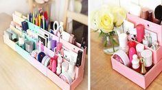 Diy Paper Board Storage Box Decor papelaria Desk maquiagem cosméticos organizador 1 pcs grátis frete em Armazenamento & organização de Casa & jardim no AliExpress.com | Alibaba Group