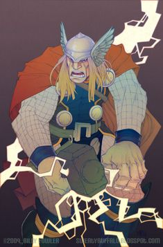 Thor in color by Sweatybuffalo