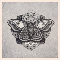 dotted moth tattoo - Have faith in the change you can make within yourself