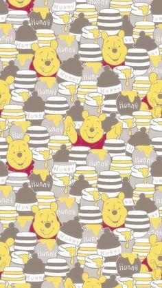 Winnie the Pooh Cute Winnie The Pooh, Winnie The Pooh Friends, Winnie The Pooh Quotes, Mickey And Friends, Bear Wallpaper, Cartoon Wallpaper, Pattern Wallpaper, Disney Background, Cartoon Background
