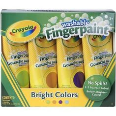 Crayola Washable Fingerpaint - Bright Colors