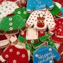 """Cookies made for an """"Ugly Sweater X-mas"""" party Ugly Sweater Cookie, Reindeer Sweater, Cookie Decorating, Decorating Ideas, Sugar Cookies, Christmas Cookies, Being Ugly, Christmas Stuff, Christmas Crafts"""