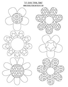 Love these free printable coloring pages used to make a fun spring banner.  So doing this with the kids.