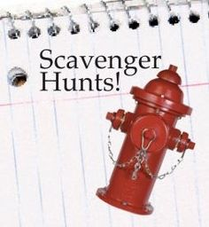 Scavenger hunts for kids, with printable lists