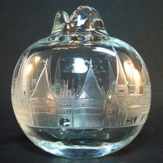 Glas Vase • Carl Rotter, Lübeck • Seltene Form - sehr guter Zustand - 1,3 kg