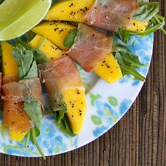 Mango lime wraps recipe. Totally up my alley!