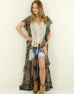 Kimono Morena Ibiza Fashion, Kimono, Bohemian, Style, Fashion Styles, Swag, Kimonos, Boho, Outfits