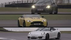 Porsche GT3, Aston Martin V12 Vantage S, Mercedes C63 AMG Black Series -...