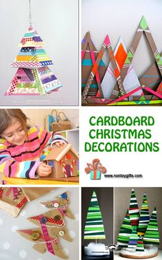 Cardboard Christmas Decorations - at Non Toy Gifts