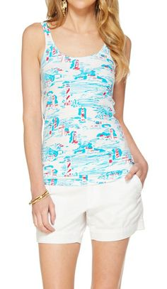 Lilly Pulitzer Tabbie Printed Tank Top in Watch Out