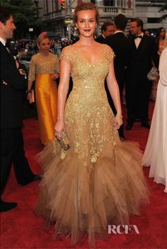 Leighton Meester in Marchesa at the 2012 Met Gala. Photo Credit: RCFA