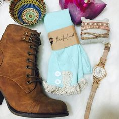 ❣LOWEST PRICE❣ Adorable mint lace knee high sock So cute! Please ask me to make you a separate listing (: Three Bird Nest Accessories Hosiery & Socks