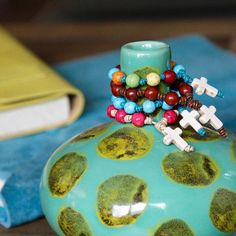 New fun and colorful one-decade pocket rosaries! Great gift for everyone in the family.