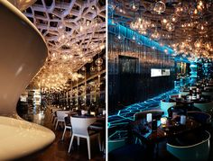 Some of the most beautiful, inspired, creative, and interesting spaces you will ever lay eyes on inside of restaurants, bars, and cafes around the world. via: Bored Panda