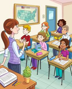 More illustrations from the Mini Mysteries book for American Girl! Writing Pictures, Picture Writing Prompts, School Pictures, Drawing For Kids, Art For Kids, Benfica Wallpaper, Picture Comprehension, Picture Composition, School Clipart