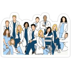 Greys Anatomy Gifts, Greys Anatomy Funny, Grey Anatomy Quotes, Greys Anatomy Derek, Tumblr Stickers, Cute Stickers, Grey's Anatomy Wallpaper Iphone, Medical Wallpaper, Greys Anatomy Characters