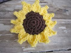 Sunflower with free pattern
