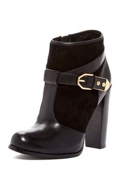 Leather & suede bootie...fall 2014