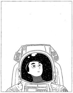 ONE HOUR DRAWING :: Carl Sagan, Astronaut