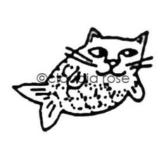 Catfish (Small) - CR131B - Rubber Art Stamp