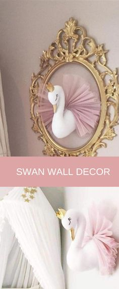 Swan Nursery Decor, Nursery Room, Nursery Wall Art, Baby Room, Diy For Kids, Gifts For Kids, Golden Crown, How To Have Twins, Great Birthday Gifts