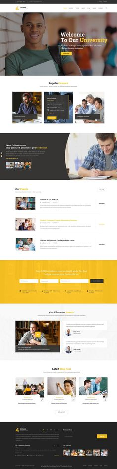 EduMax is wonderful premium #PSD #Template for #Education & online Courses website.