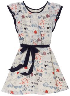 Us Angels Girls 7-16 Printed Dress with Ruffle Sleeves $80.19
