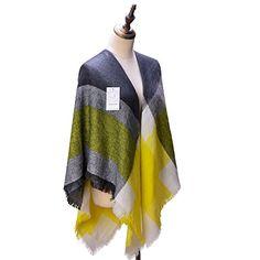 Women's Cozy Tartan Scarf Wrap Shawl Neck Stole Warm Plaid Checked Pashmina. 57.4*7.8 inch.