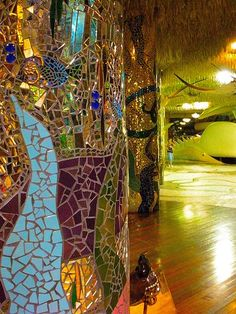 Glittery Mosaics of the City Museum- St. Louis. This place us franking amazing!!! We are planning a trip to St. Louis just to go here!