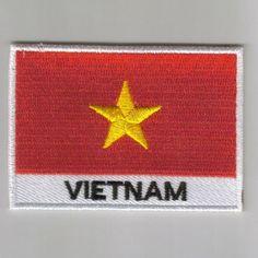 Flag patch printed badge country vintage vietnam
