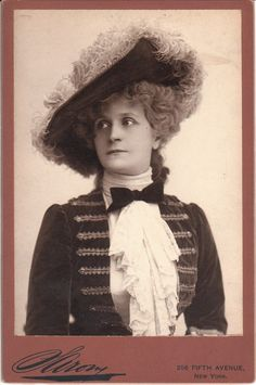 Henrietta Crosman was a renowned American stage and film actress (silent and talkies) and she is captured beautifully in this cabinet card photographed by Napoleon Sarony