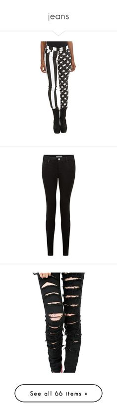 """""""jeans"""" by doodlebob3 ❤ liked on Polyvore featuring jeans, pants, skinny fit jeans, stretchy jeans, stretch skinny jeans, white denim skinny jeans, american flag skinny jeans, black, bottoms and trousers"""