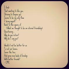 Questions of Friendship. #poetry #poem #courtneymarie #friendship