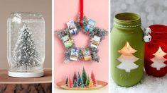 Ecco 12 idee semplici da copiare per creare dei lavoretti natalizi anche quando non si ha molta manualità o tempo a disposizione. Christmas Arts And Crafts, Diy Arts And Crafts, Simple Christmas, Christmas Diy, Merry Christmas, Christmas Decorations, Christmas Stuff, Snow Globes, Diy Projects