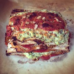Lasagne di Pane Azimo (300 kcal a porzione)
