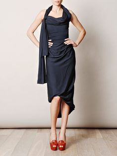 Vivienne Westwood Gold Label Ball Tie Dress in Blue (navy)