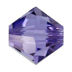 5328 4mm Tanzanite Swarovski Elements Crystal Bicone Bead | Fusion Beads