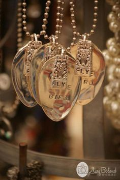 handmade vintage spoon jewelry {Levita- did you see these? I think you can buy a set of those metal alphabet stamps at Harbor Freight and places like that for real cheap}