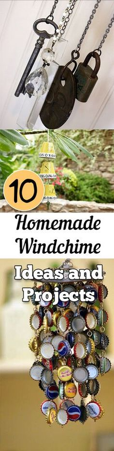 Super cute ideas to turn ordinary items into a beautiful wind chime.