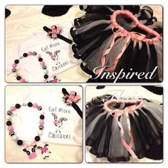 Cow Inspired Tutu Outfit Includes Applique Cow by InspiredFlair, $85.00