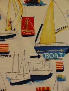 adorable! perfect with the bunting in this board. Nautical theme fabric