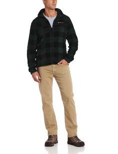 Best Quality Columbia Men's Printed Steens Mountain Fleece Jacket, Deep Woods Lumberjack Print, Medium