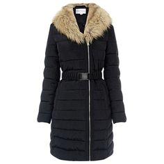 Buy Warehouse Asymmetric Padded Coat, Black from our Women's Coats & Jackets range at John Lewis & Partners. Winter Coats Women, Coats For Women, Jackets For Women, Winter Jackets, Parka Coat, Fur Coat, Long Hooded Coat, Asymmetrical Coat, Warehouse