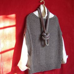 Ravelry: ML164 Flatter Me Vest pattern by Maddy Cranley - I'm more into the necklace though!