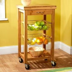 Bamboo Kitchen Trolley - Natural by Storage Furniture on Kitchen Cart, Kitchen Furniture Storage, Decor, Home, Home Kitchens, Kitchen Decor, Kitchen Storage Organization, Kitchen Storage, Home Storage Solutions