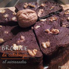 Recetas fit by Katy: BROWNIE DE CALABAZA AL MICROONDAS