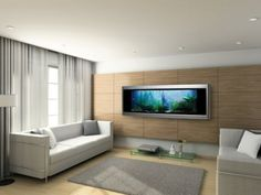 Luxury Living Room Furniture – Most Expensive Aquarium Made with Gold - Home Design and Home Interior Aquarium Design, Wall Aquarium, Big Aquarium, Betta, Cool Fish Tanks, Gold Walls, Art Of Living, T Rex, My Dream Home