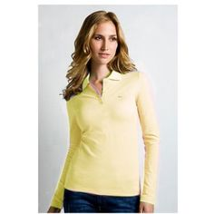 f6c628c8c7ddd Brand New Authentic Factory Overrun Lacoste Women s Long Sleeve Classic  Pique Polo Color  Pink Php